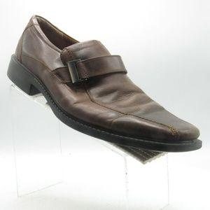 Ecco Size 13 M/EU 46 Brown Leather Loafer B6 A1